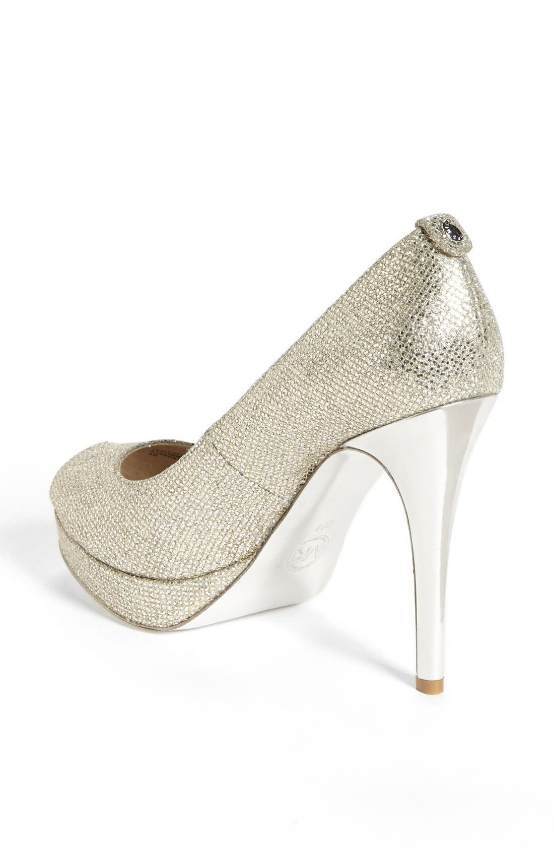 'York' Platform Pump,                             Alternate thumbnail 2, color,                             Silver