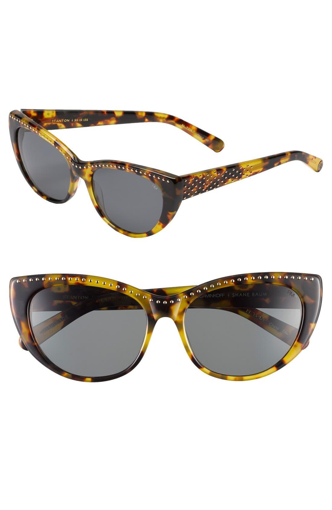 Alternate Image 1 Selected - Rebecca Minkoff 'Stanton' 55mm Sunglasses