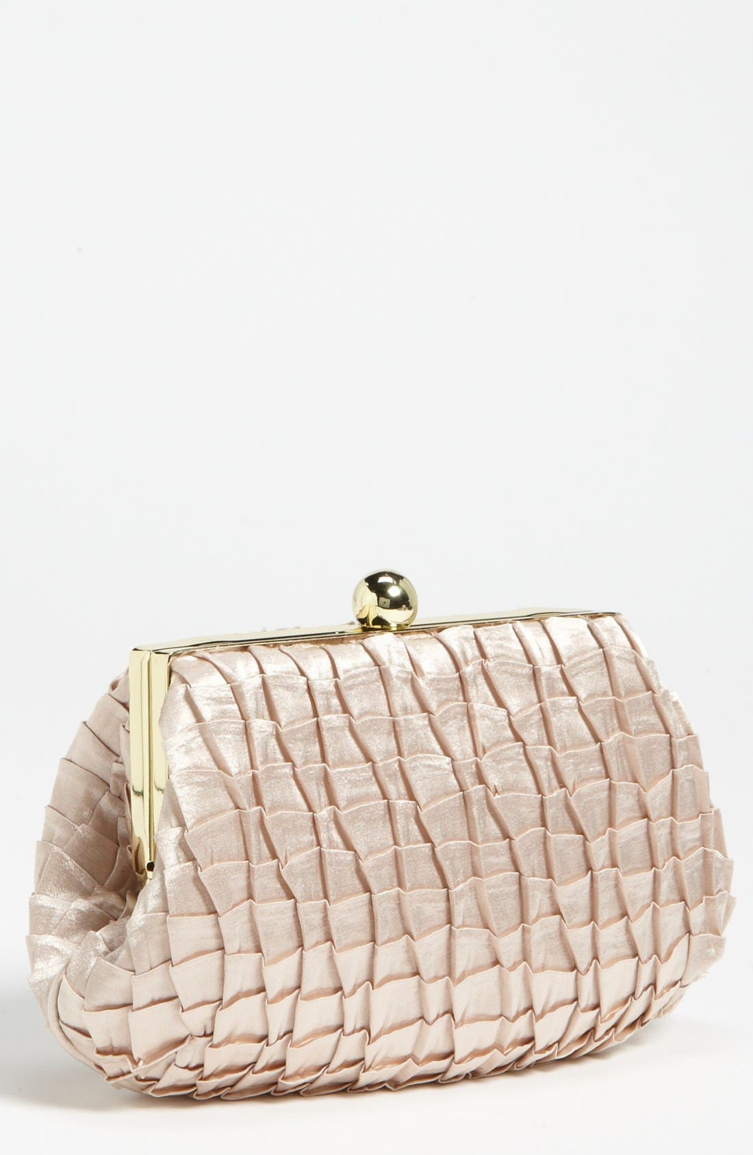 Alternate Image 1 Selected - Jessica McClintock Pleated Satin Pouch