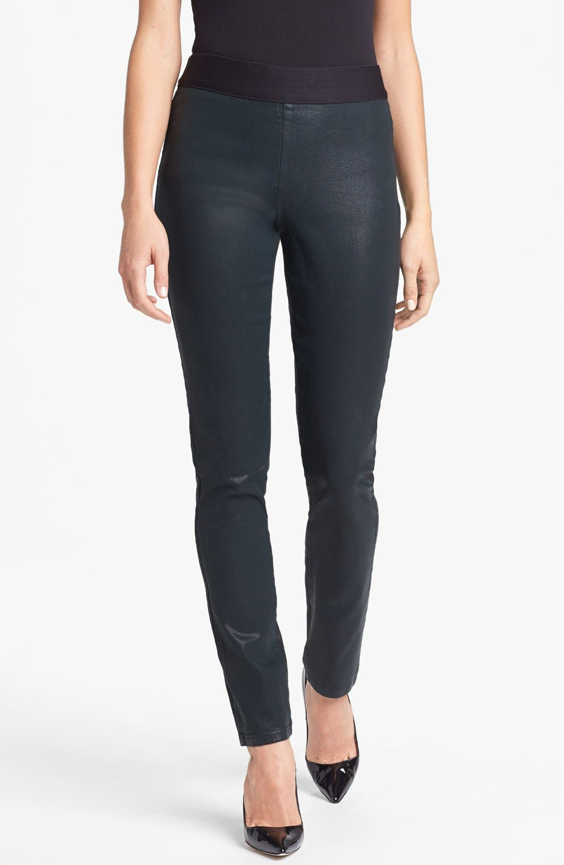 Main Image - NYDJ 'Gia' Coated Stretch Pull-On Pants