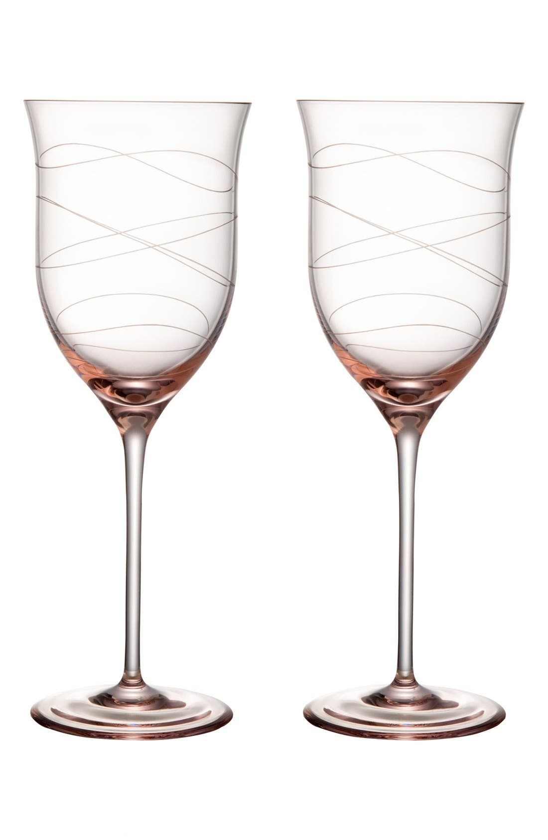Alternate Image 1 Selected - Nambé 'Motus - Pink' Goblets (Set of 2)