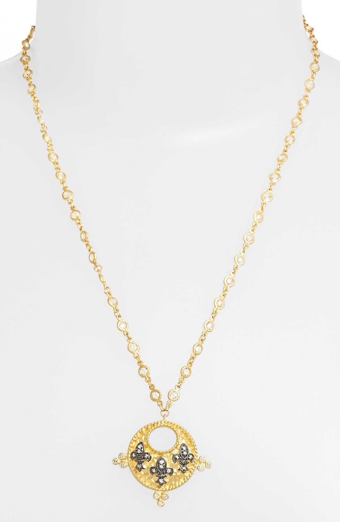 Alternate Image 1 Selected - FREIDA ROTHMAN 'Tribeca' Triple Fleur de Lis Pendant Necklace (Online Only)
