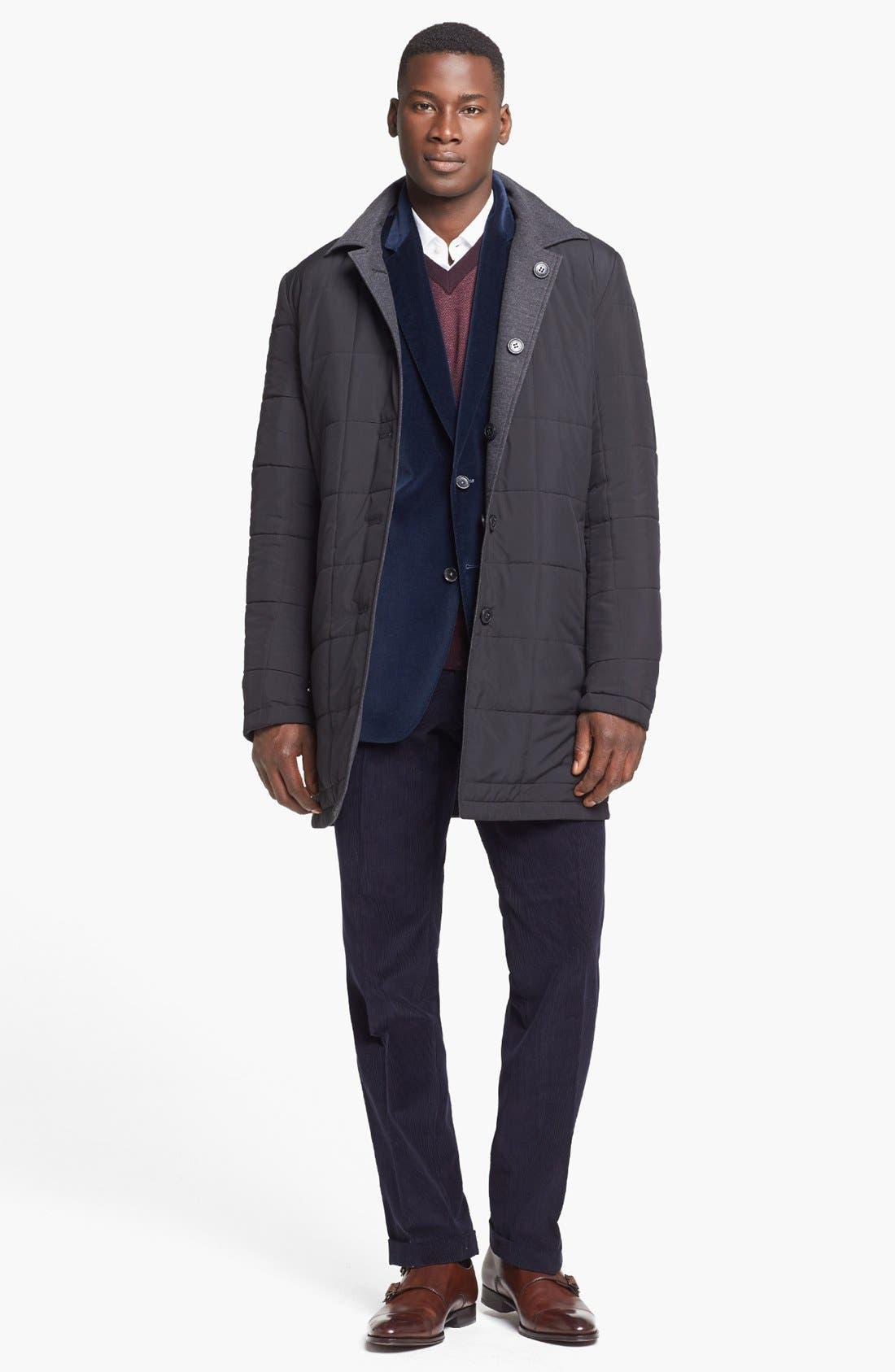 Alternate Image 4  - BOSS HUGO BOSS 'The Keys' Trim Fit Velvet Blazer