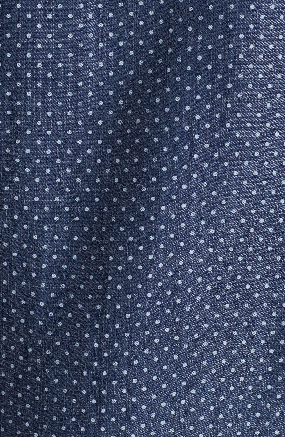 Alternate Image 5  - Foxcroft Dotted Denim Shirt