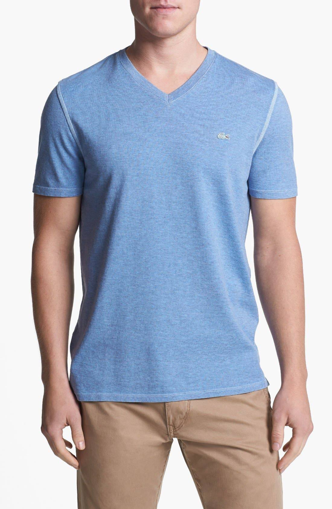 Alternate Image 1 Selected - Lacoste Vintage Wash V-Neck T-Shirt