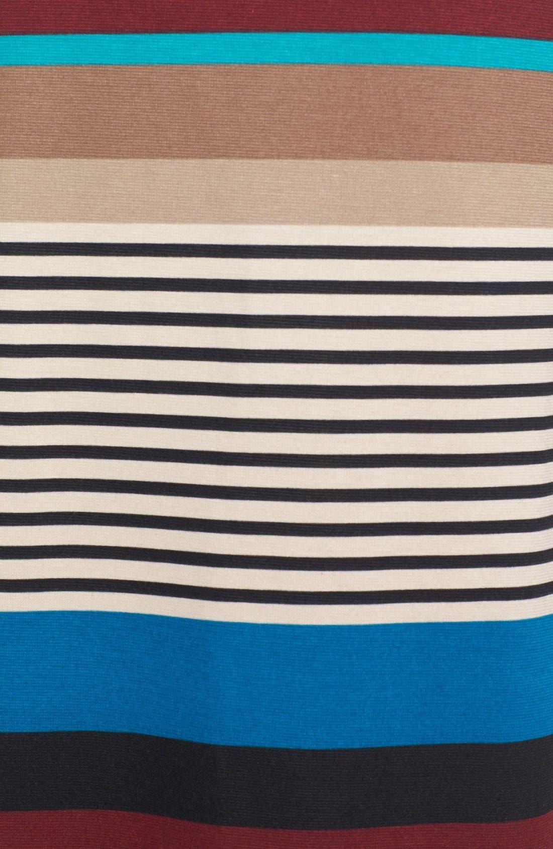 Alternate Image 3  - Olive & Oak Variegated Stripe Side Slit Maxi Skirt