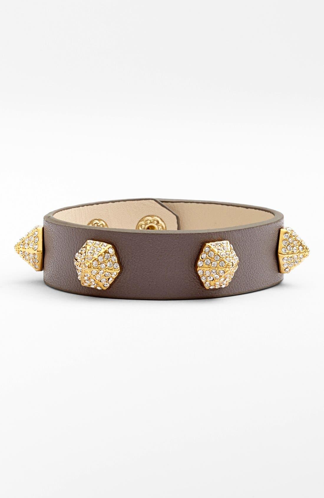 Alternate Image 1 Selected - Vince Camuto Crystal Pavé Studded Leather Bracelet