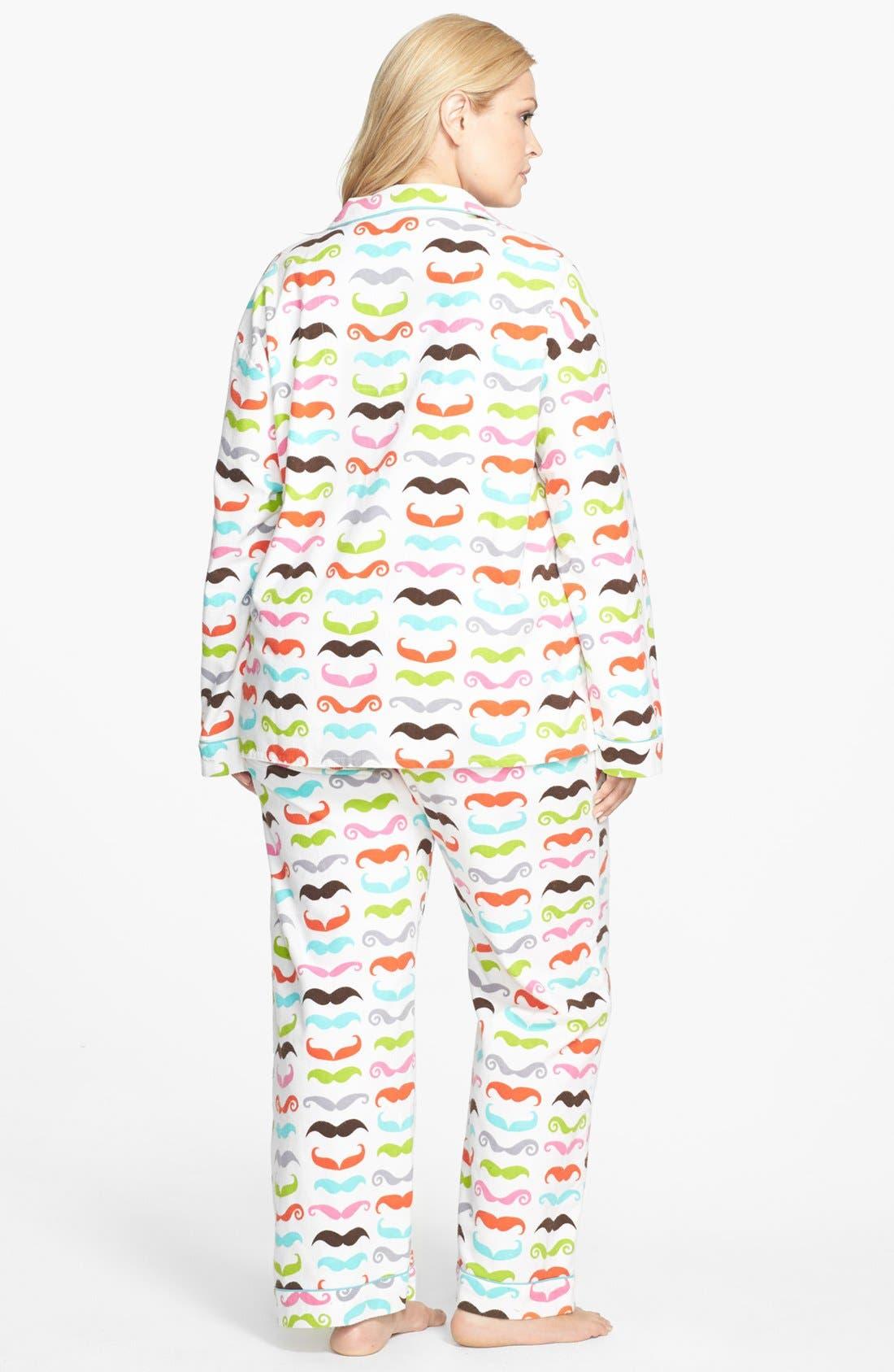 Alternate Image 2  - PJ Salvage Print Flannel Pajamas (Plus Size)