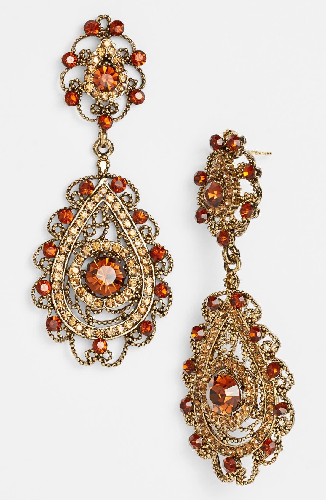 Alternate Image 1 Selected - Tasha Ornate Teardrop Earrings
