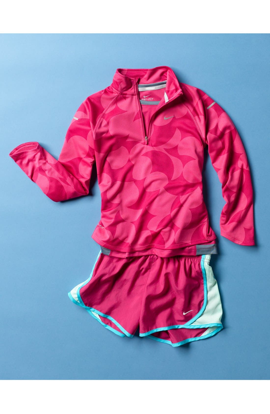 Alternate Image 2  - Nike 'Element' Dri-FIT Half Zip Running Top (Big Girls)