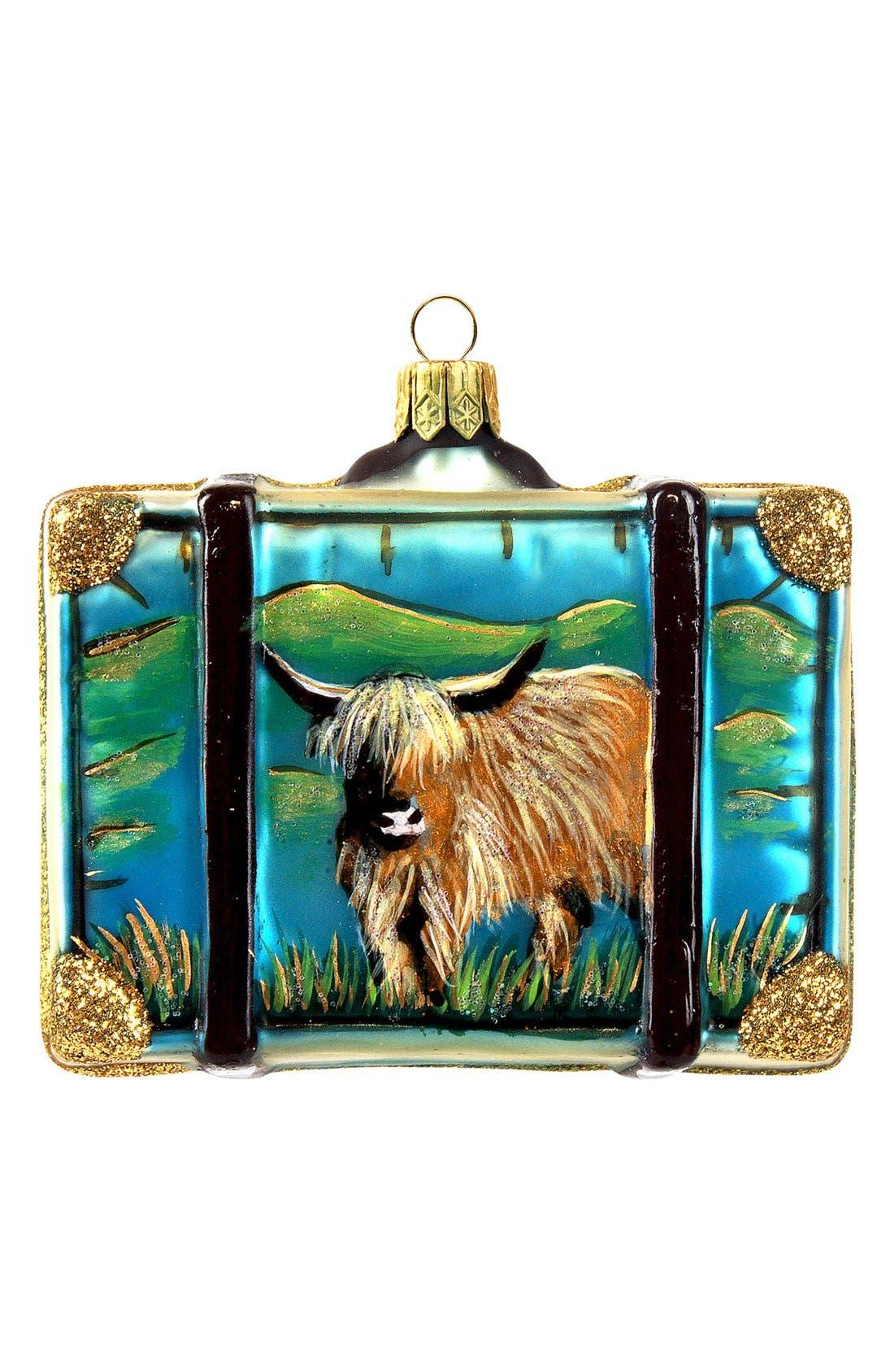 Alternate Image 2  - Nordstrom at Home 'Scotland' Suitcase Ornament
