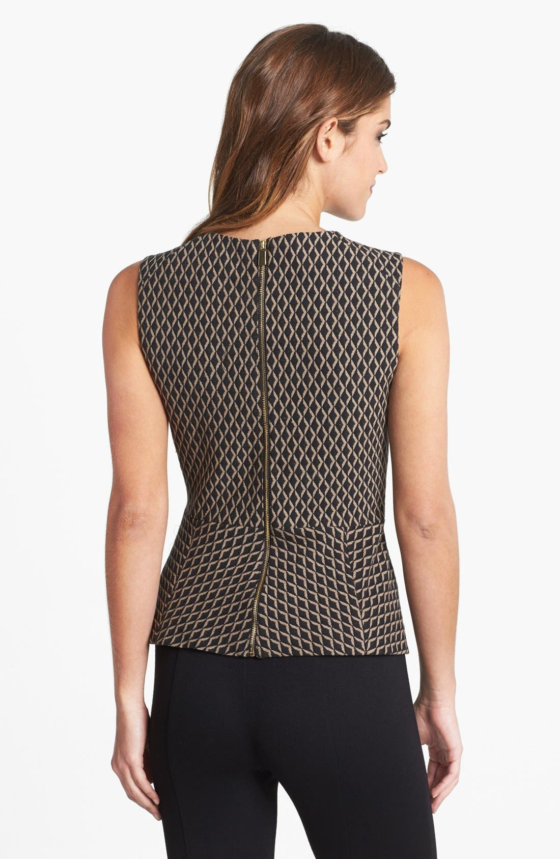 Alternate Image 2  - Vince Camuto Diamond Print Sleeveless Peplum Blouse