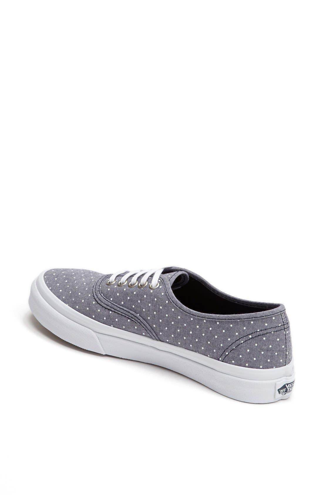 Alternate Image 2  - Vans 'Authentic - Slim' Polka Dot Sneaker (Women)
