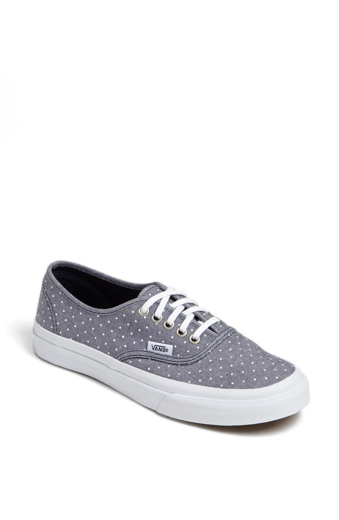 Main Image - Vans 'Authentic - Slim' Polka Dot Sneaker (Women)