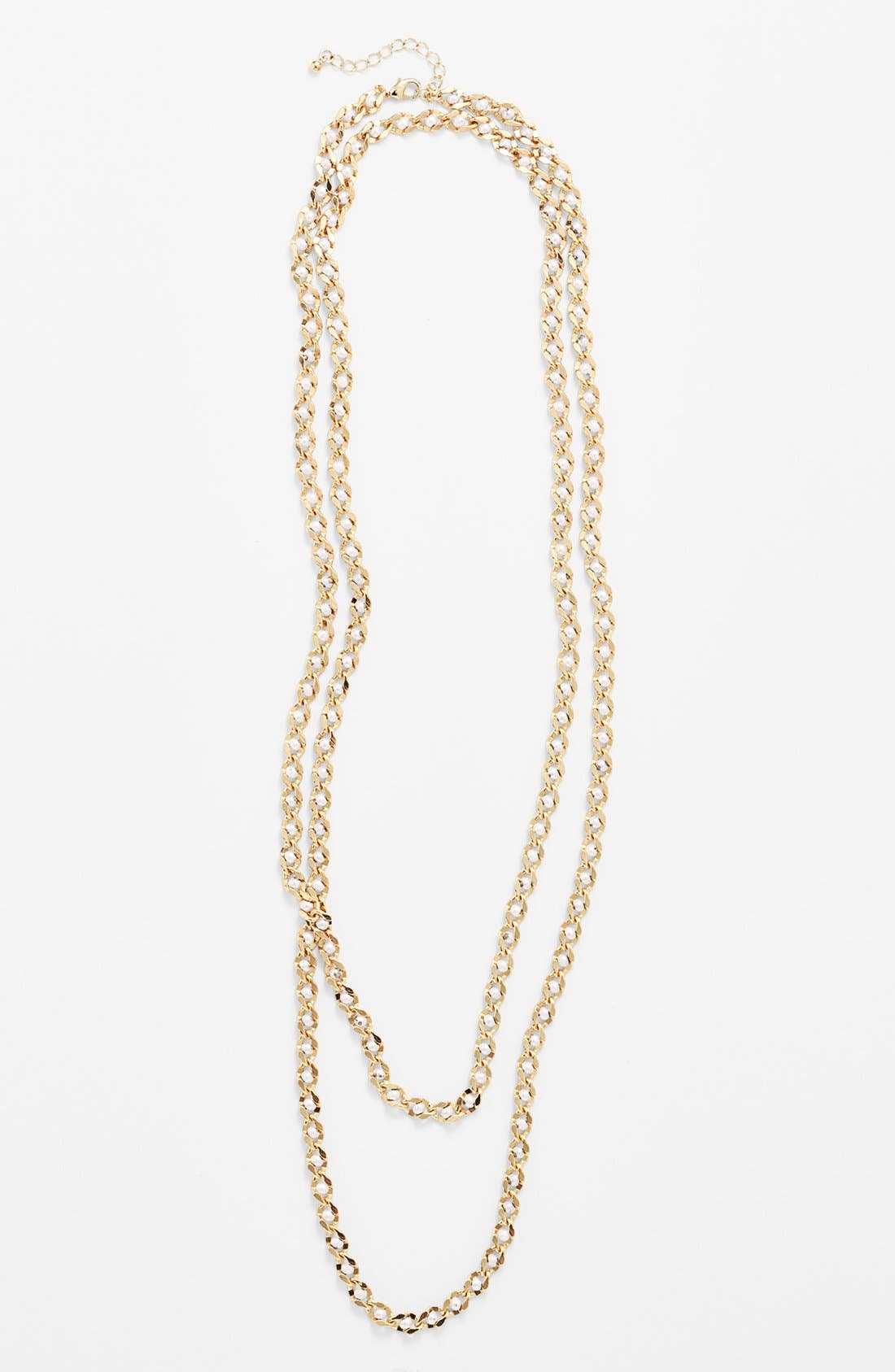 Alternate Image 2  - Natasha Couture Faux Pearl Chain Necklace