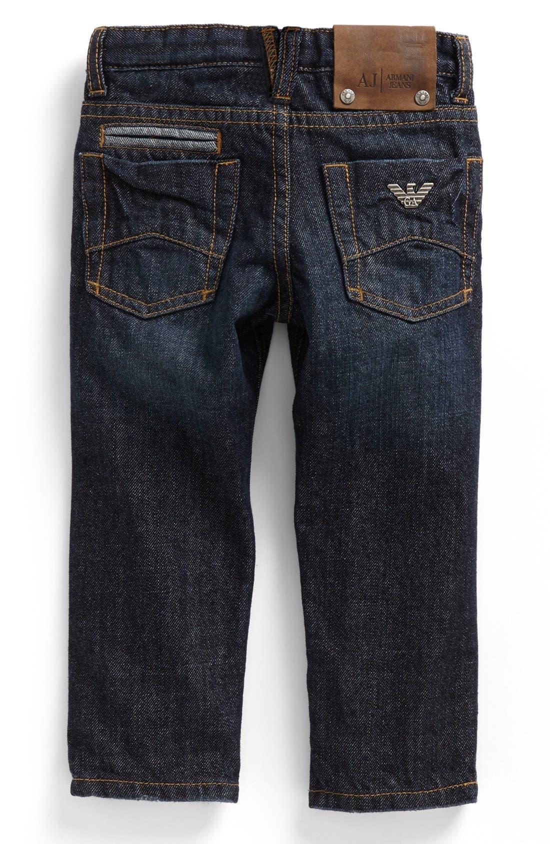 Main Image - Armani Junior Straight Leg Jeans (Toddler Boys, Little Boys & Big Boys)
