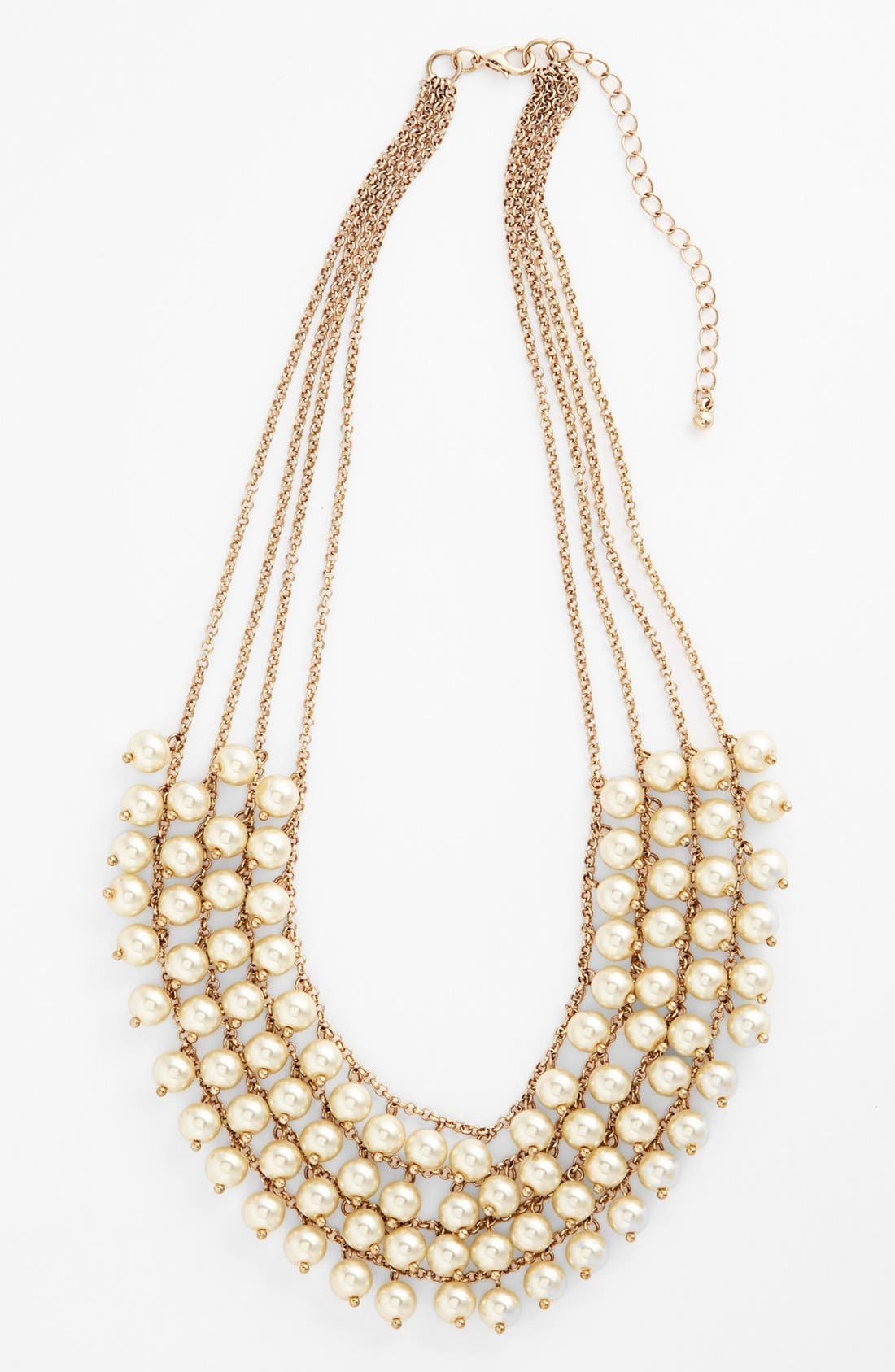 Alternate Image 1 Selected - Stephan & Co. Multistrand Faux Pearl Statement Necklace (Juniors)