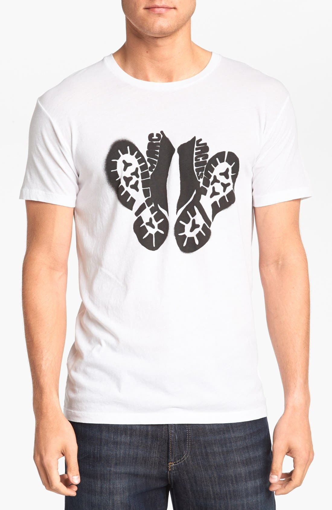 Alternate Image 1 Selected - MARC BY MARC JACOBS Stencil Boots Cotton T-Shirt