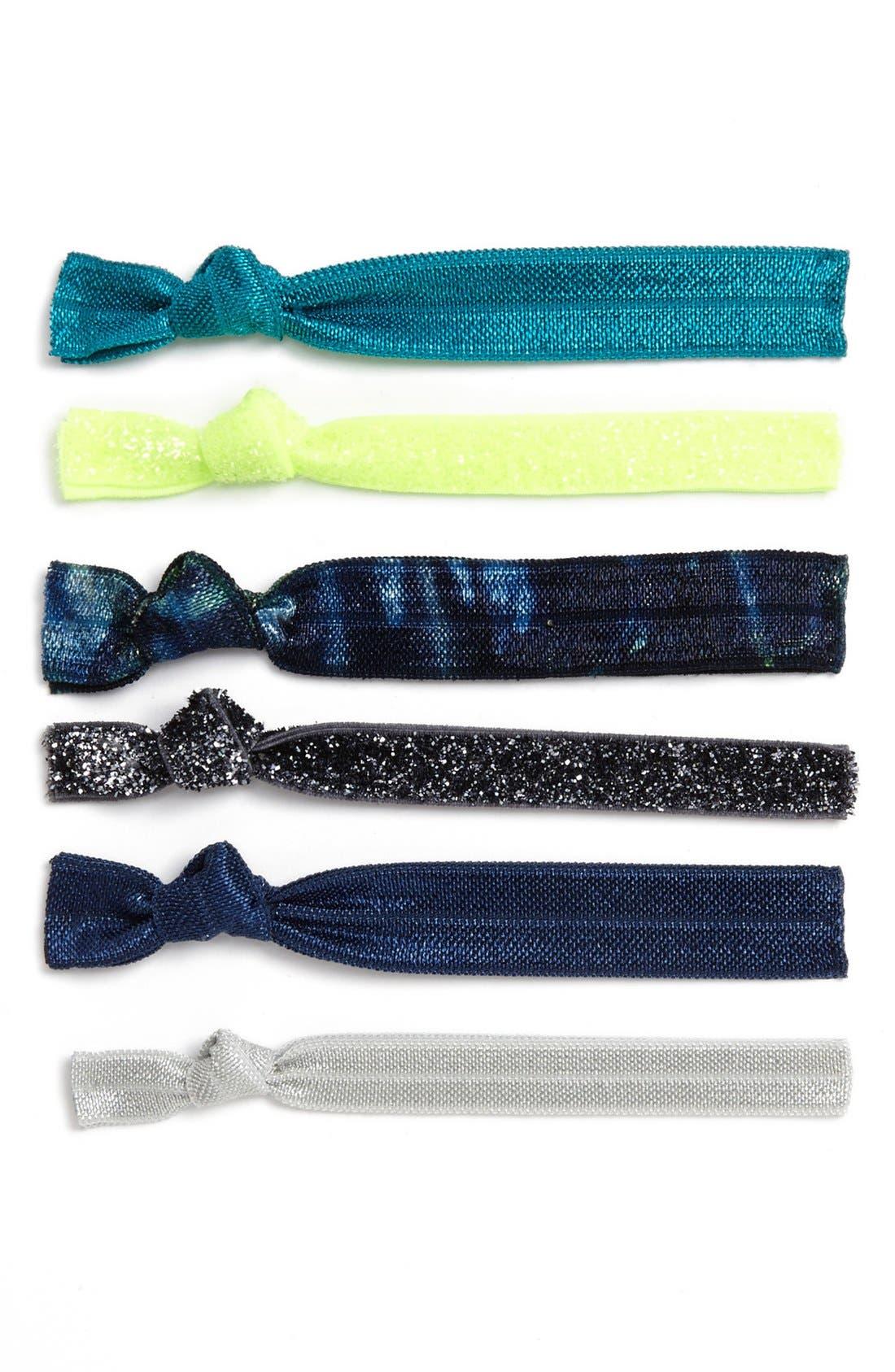 Alternate Image 1 Selected - Kitsch 'Ocean' Hair Ties (6-Pack) (Girls)