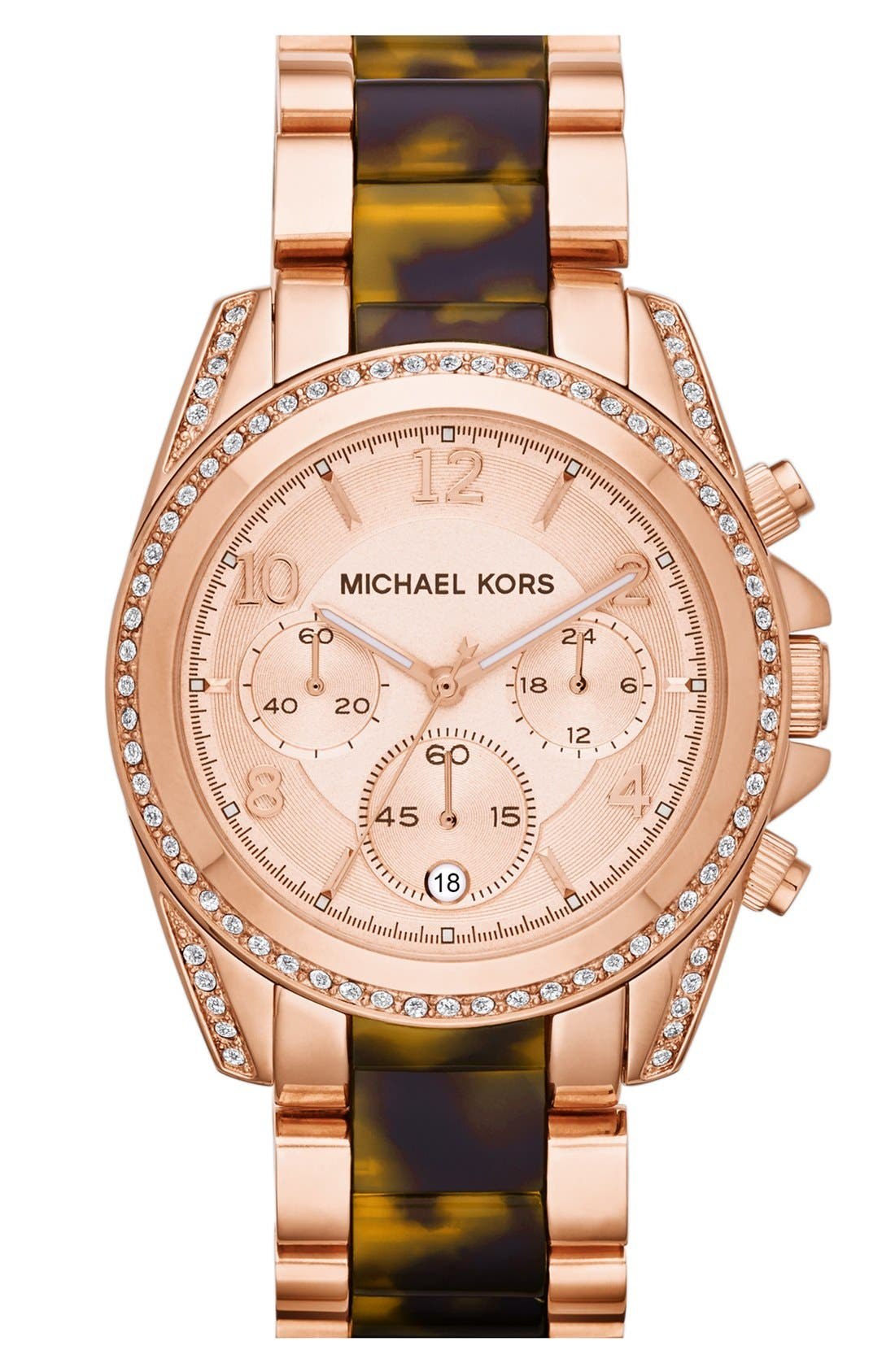 Alternate Image 1 Selected - Michael Kors 'Blair' Two-Tone Bracelet Watch, 39mm