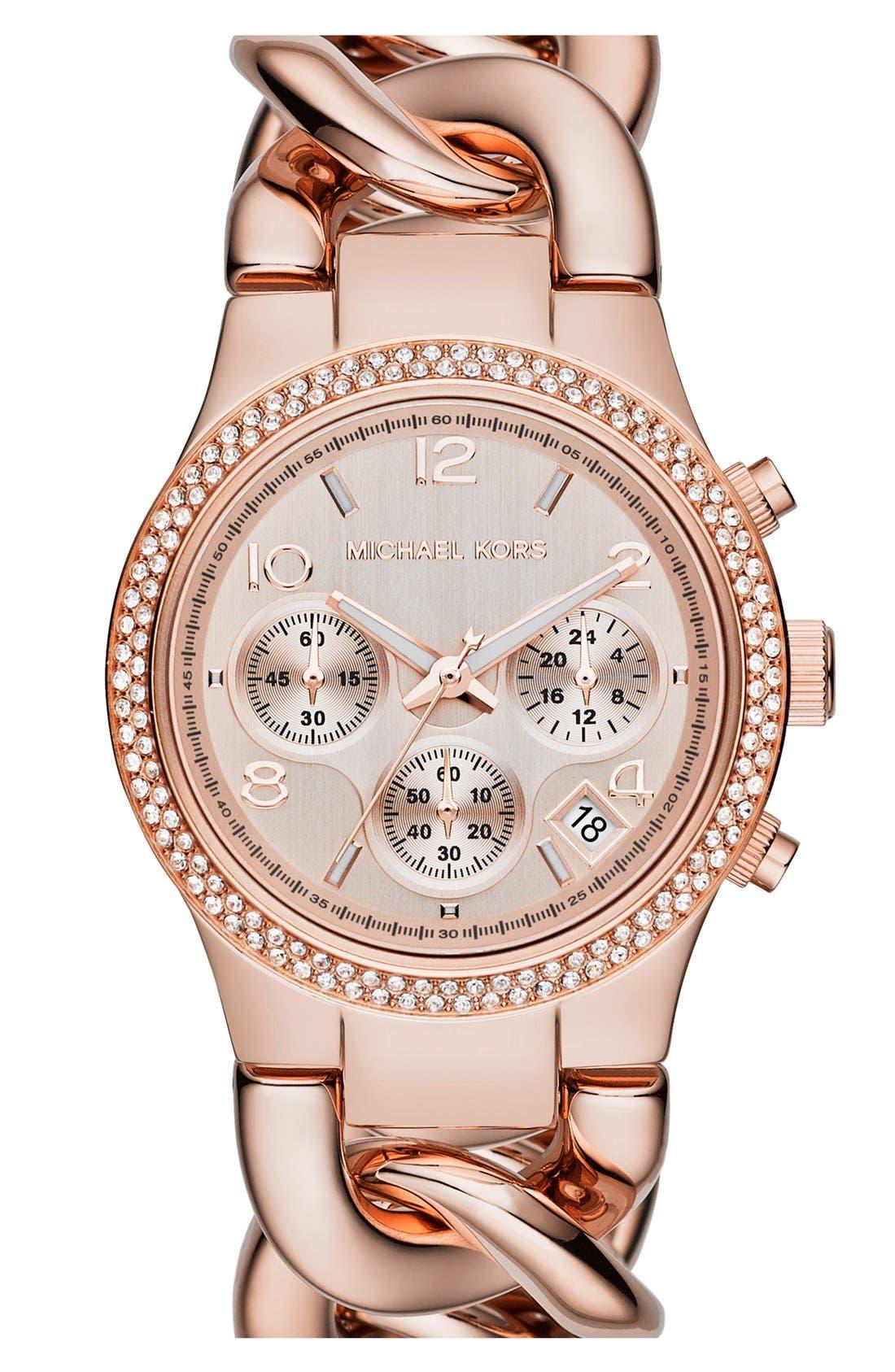 Main Image - Michael Kors 'Runway' Chain Bracelet Watch, 38mm