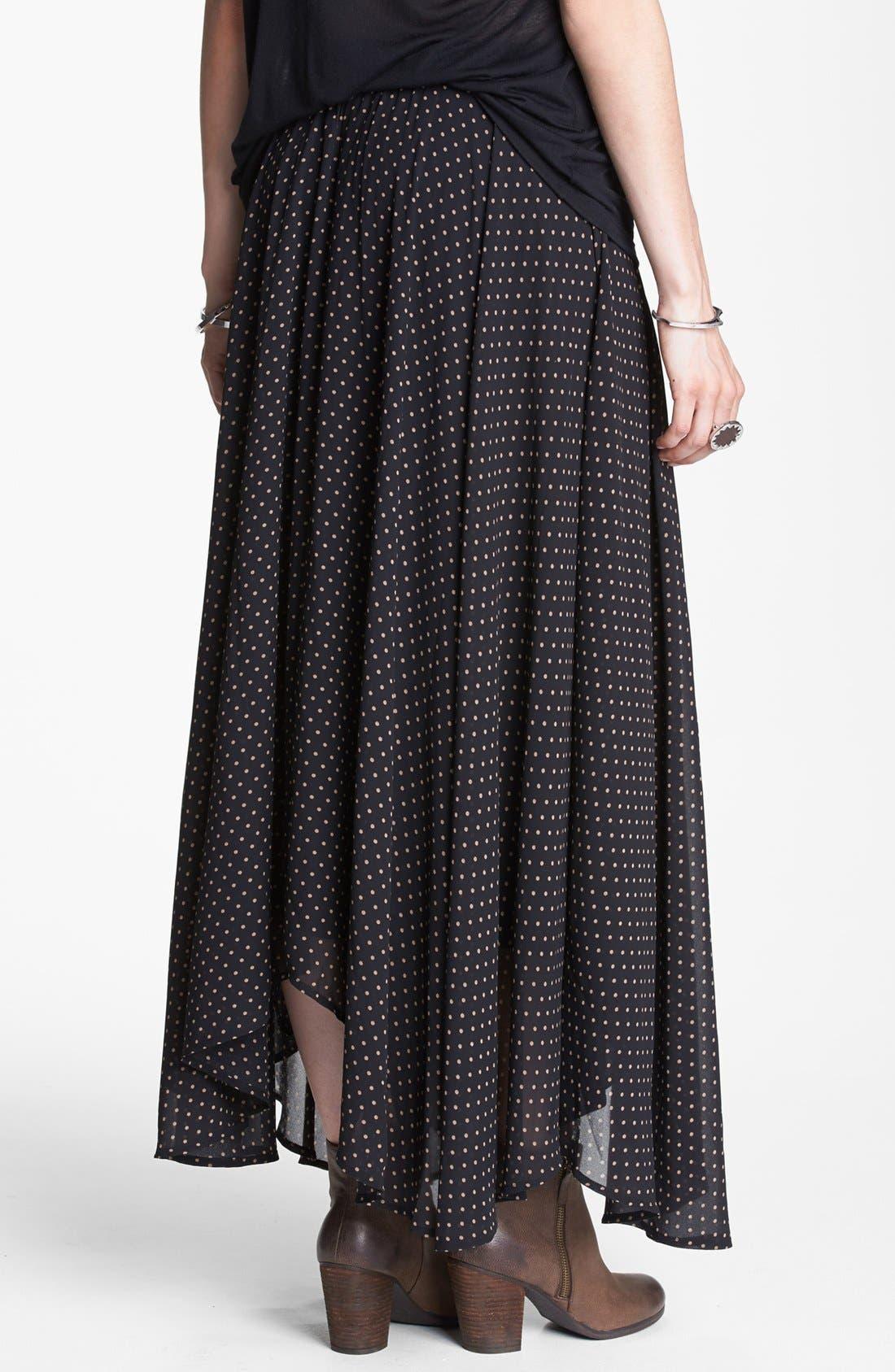 Alternate Image 2  - Free People Polka Dot Maxi Skirt