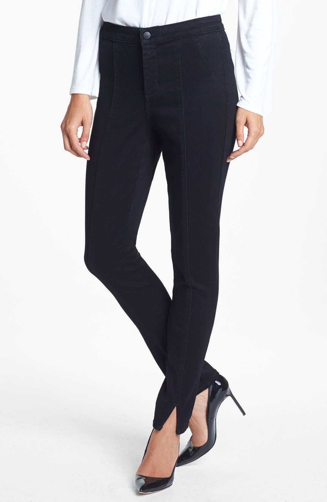 Alternate Image 1 Selected - NYDJ 'Lotus' Stretch Skinny Jeans (Overdye Black)
