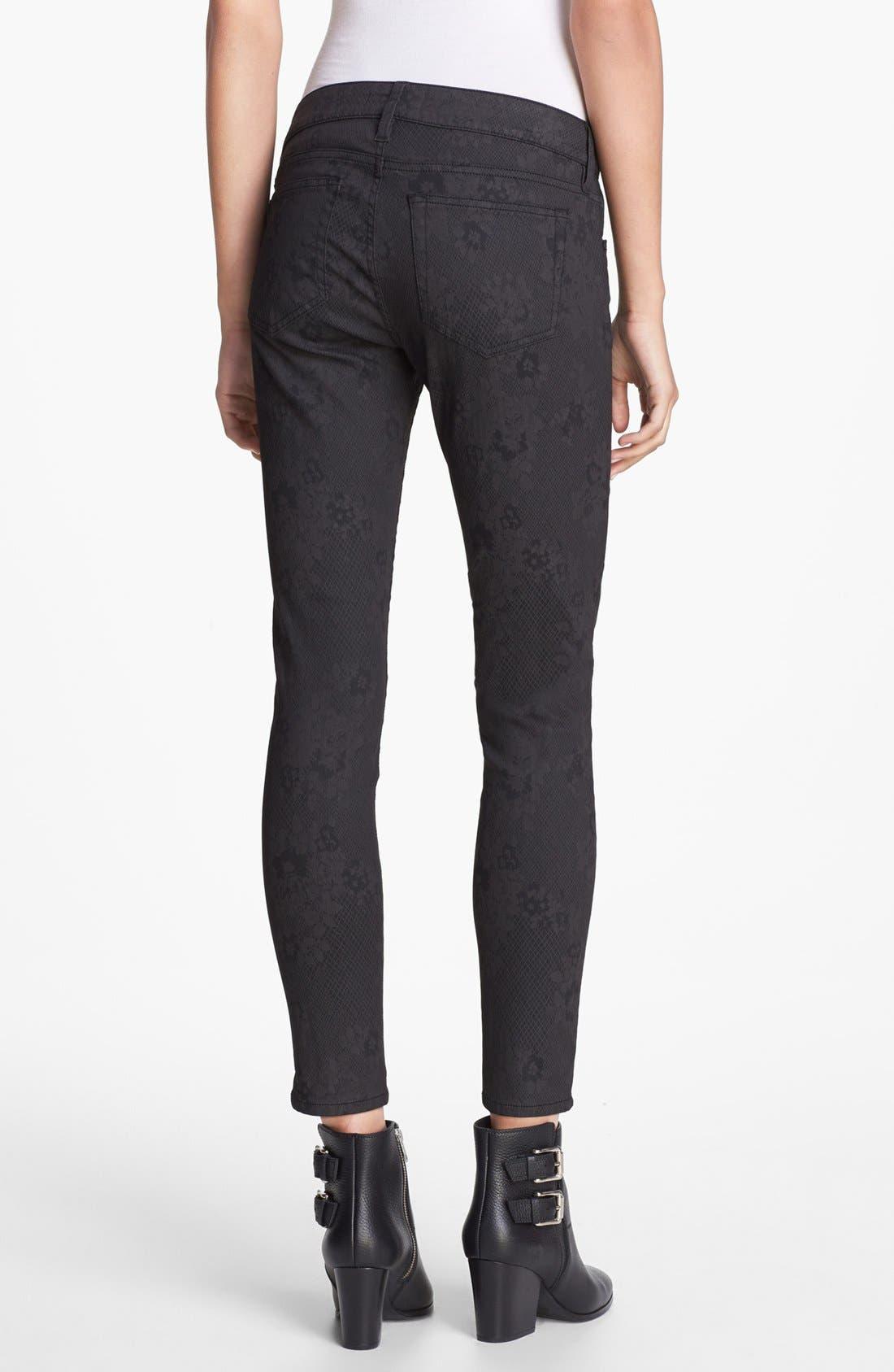 Alternate Image 2  - The Kooples Skinny Print Stretch Jeans