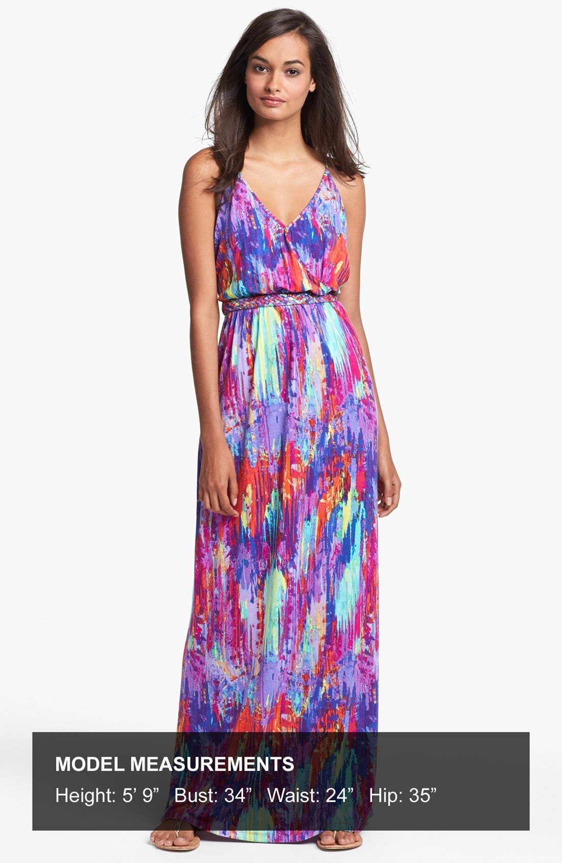 Alternate Image 4  - Presley Skye Print Jersey Maxi Dress