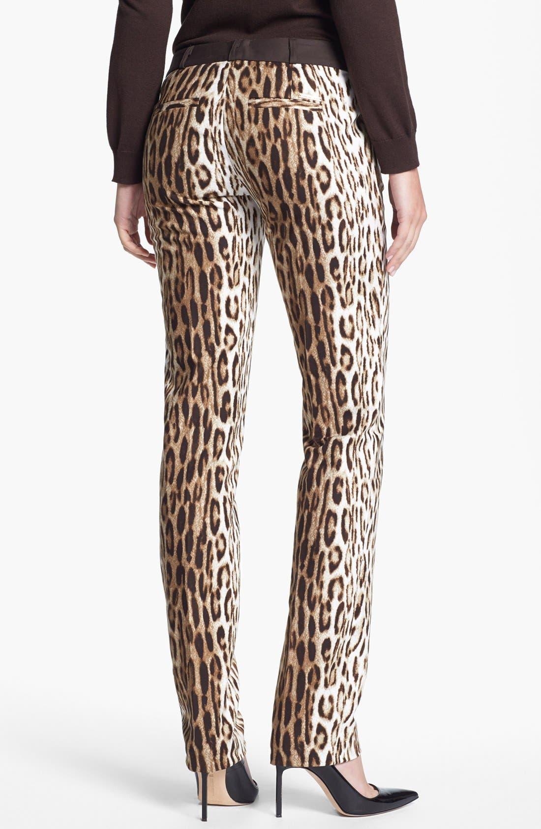 Alternate Image 2  - MICHAEL Michael Kors 'Sexy Skinny' Leopard Print Stretch Pants (Regular & Petite)