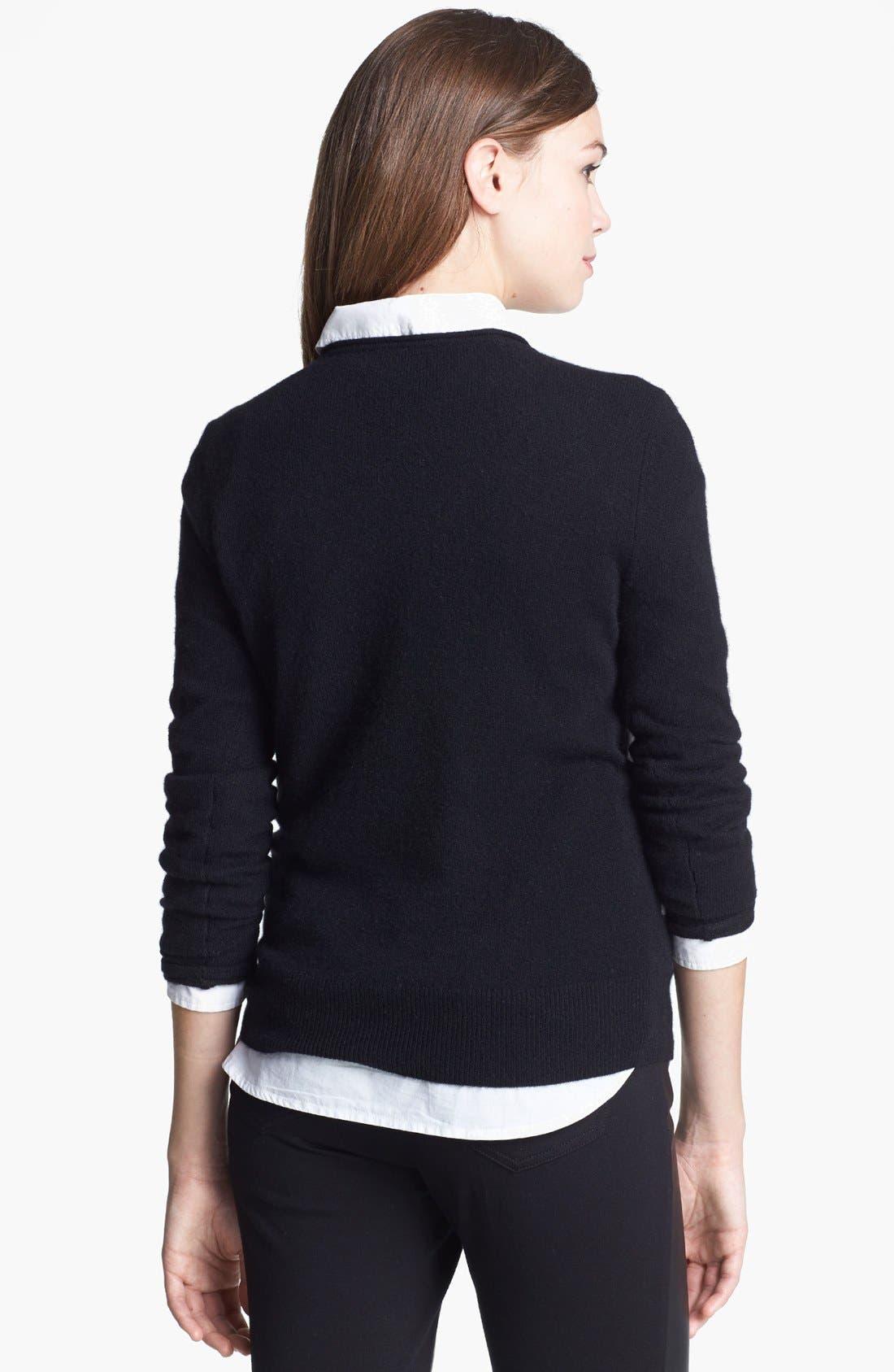 Alternate Image 2  - Halogen® Roll Neck Cashmere Sweater