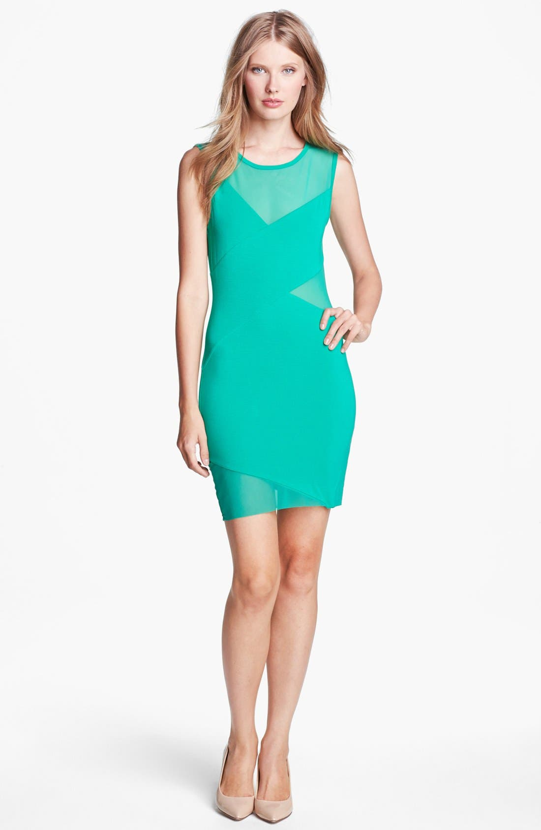 Alternate Image 1 Selected - B44 Dressed by Bailey 44 'Deep Space' Mesh & Jersey Dress