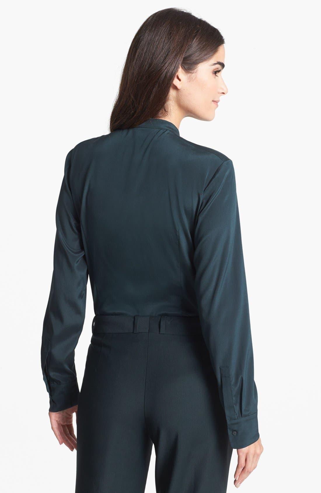 Alternate Image 2  - BOSS HUGO BOSS 'Bivinia' Stretch Silk Blouse