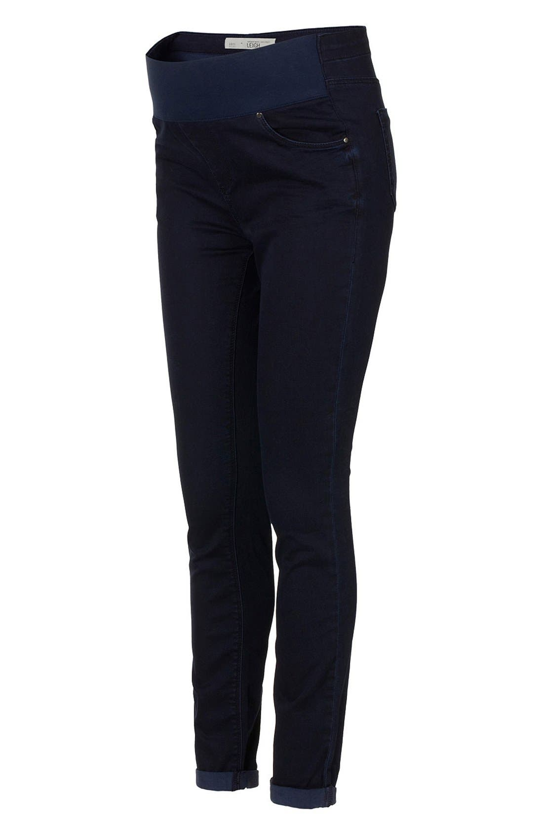 Alternate Image 1 Selected - Topshop Moto 'Leigh' Maternity Jeans (Indigo)