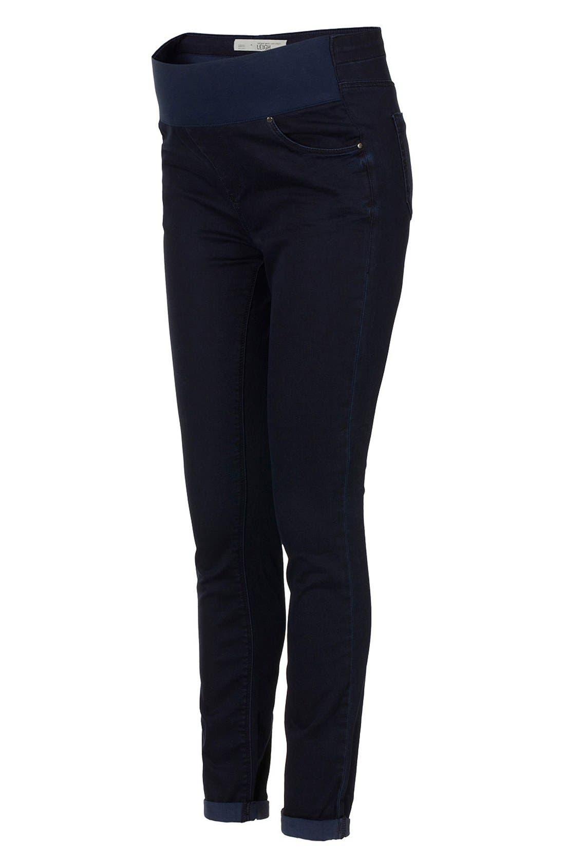 Main Image - Topshop Moto 'Leigh' Maternity Jeans (Indigo)
