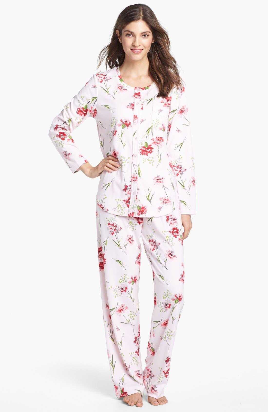 Alternate Image 1 Selected - Carole Hochman Designs Knit Pajamas