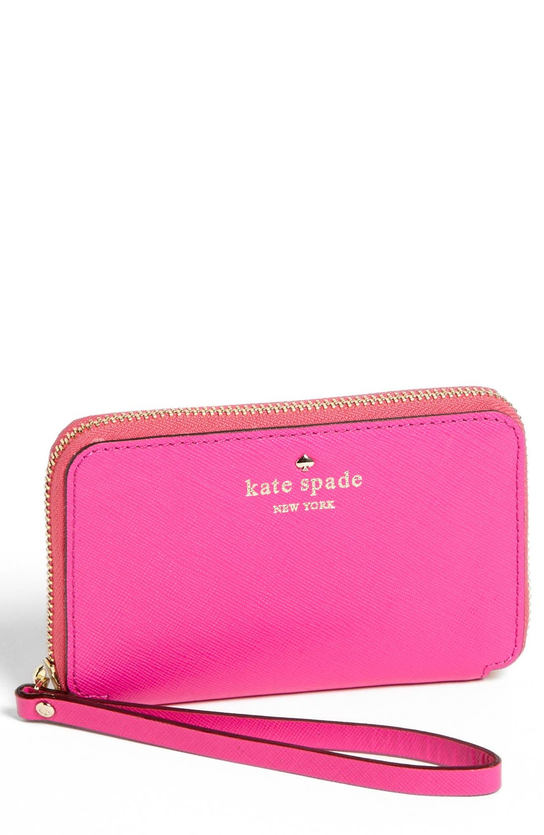 Alternate Image 1 Selected - kate spade new york 'cherry lane - louie' saffiano leather phone wallet