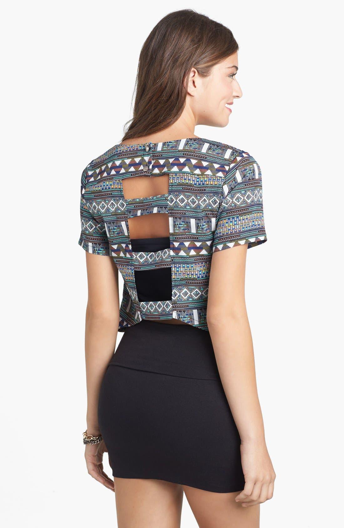 Alternate Image 3  - Lily White Banded Skirt (Juniors) (Online Only)