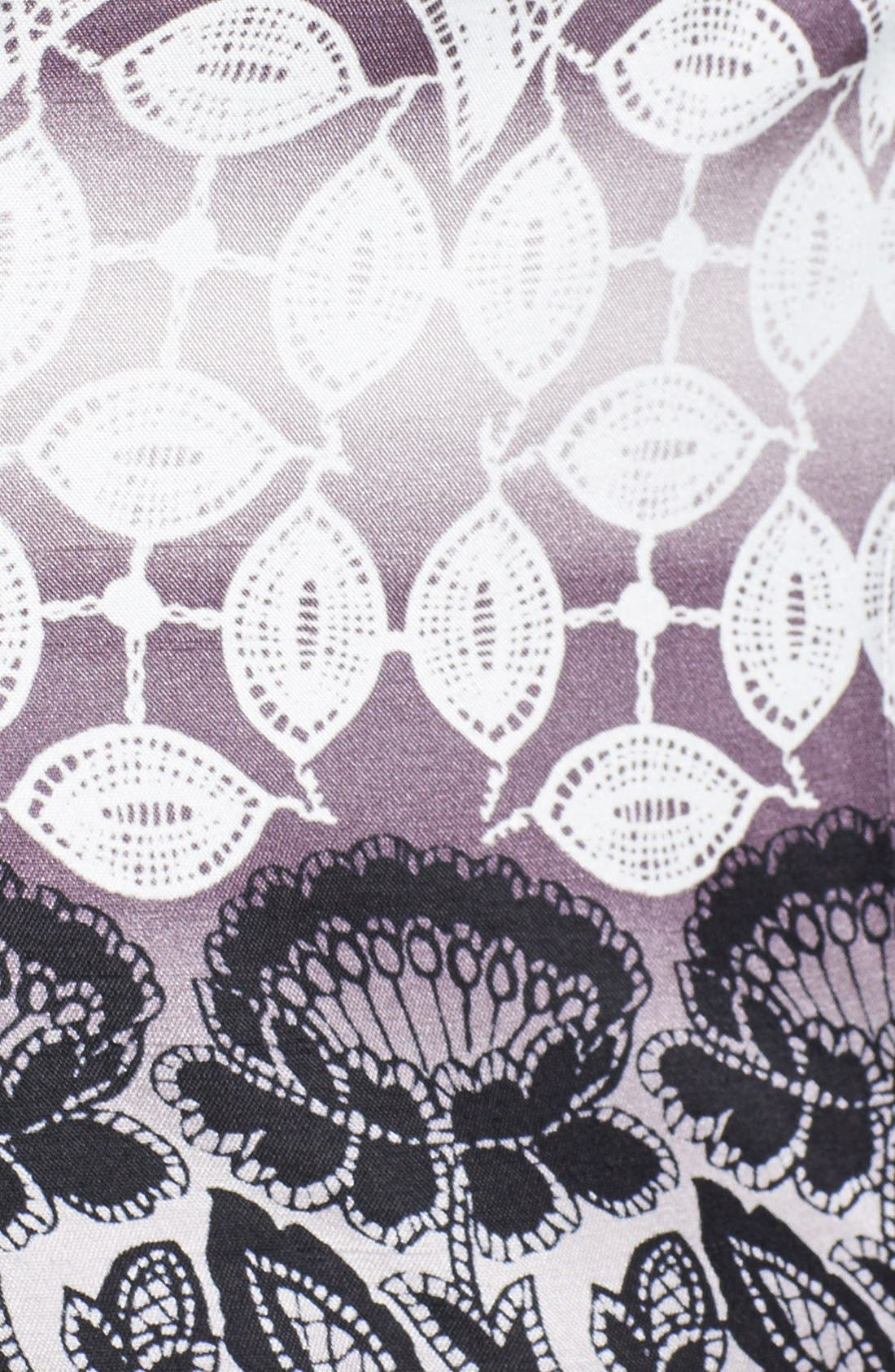 Alternate Image 3  - Eliza J Sheer Yoke Print Fit & Flare Dress