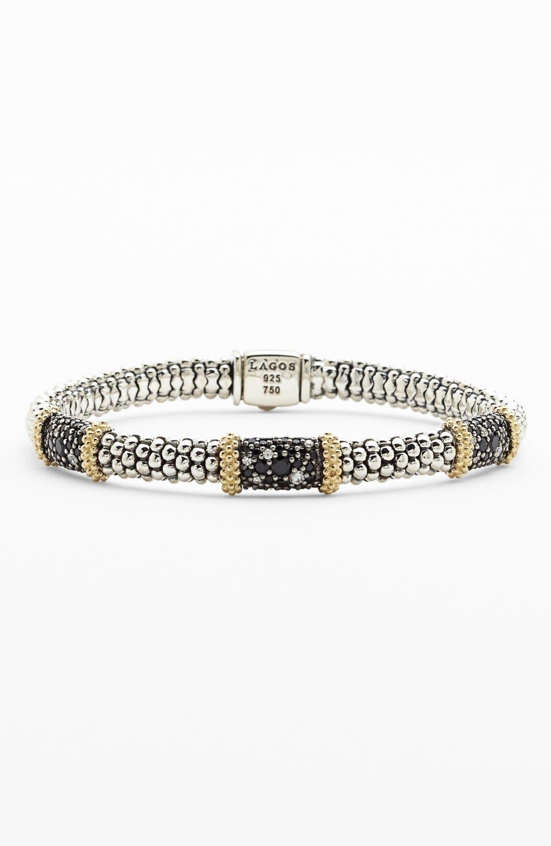 Main Image - Lagos 'Nightfall' Caviar™ Diamond Rope Bracelet
