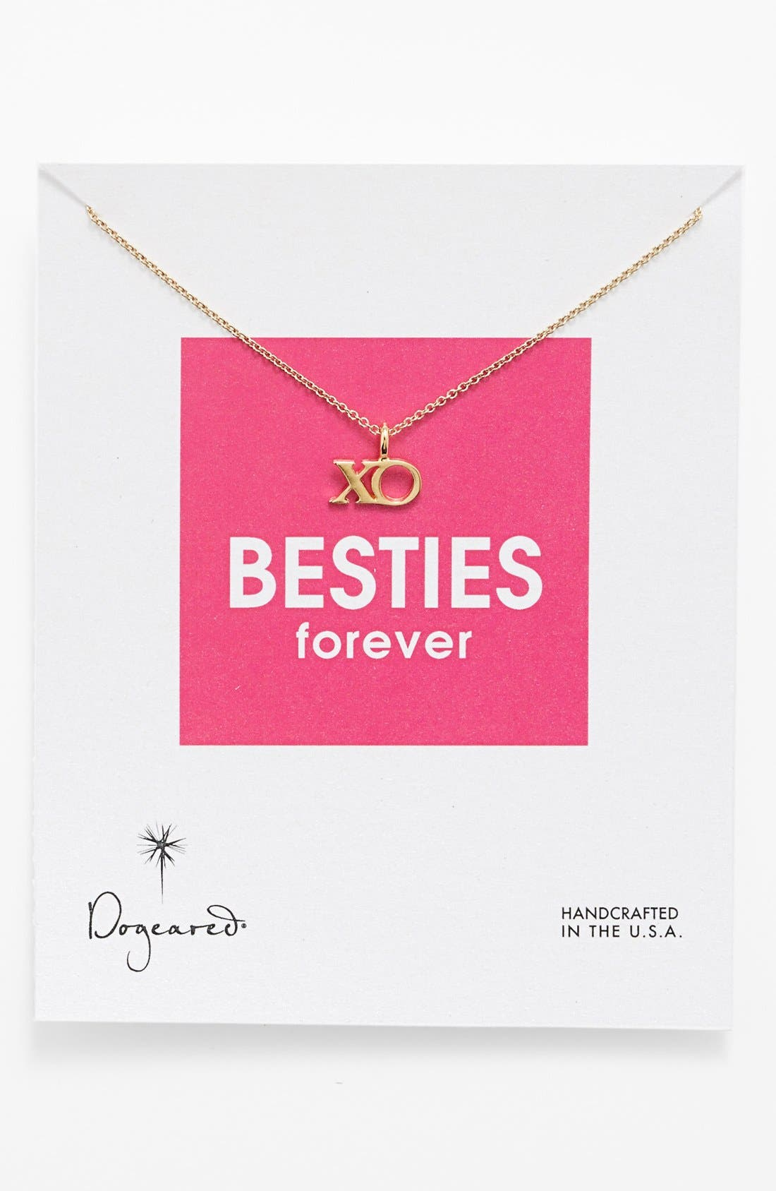 Main Image - Dogeared 'Reminder - Besties Forever' Boxed Pendant Necklace