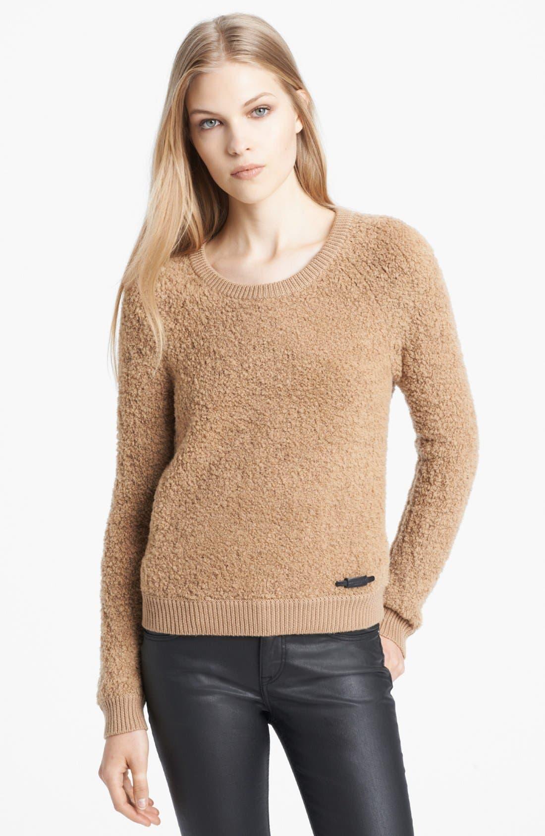 Alternate Image 1 Selected - Burberry Brit Textured Merino Blend Sweater