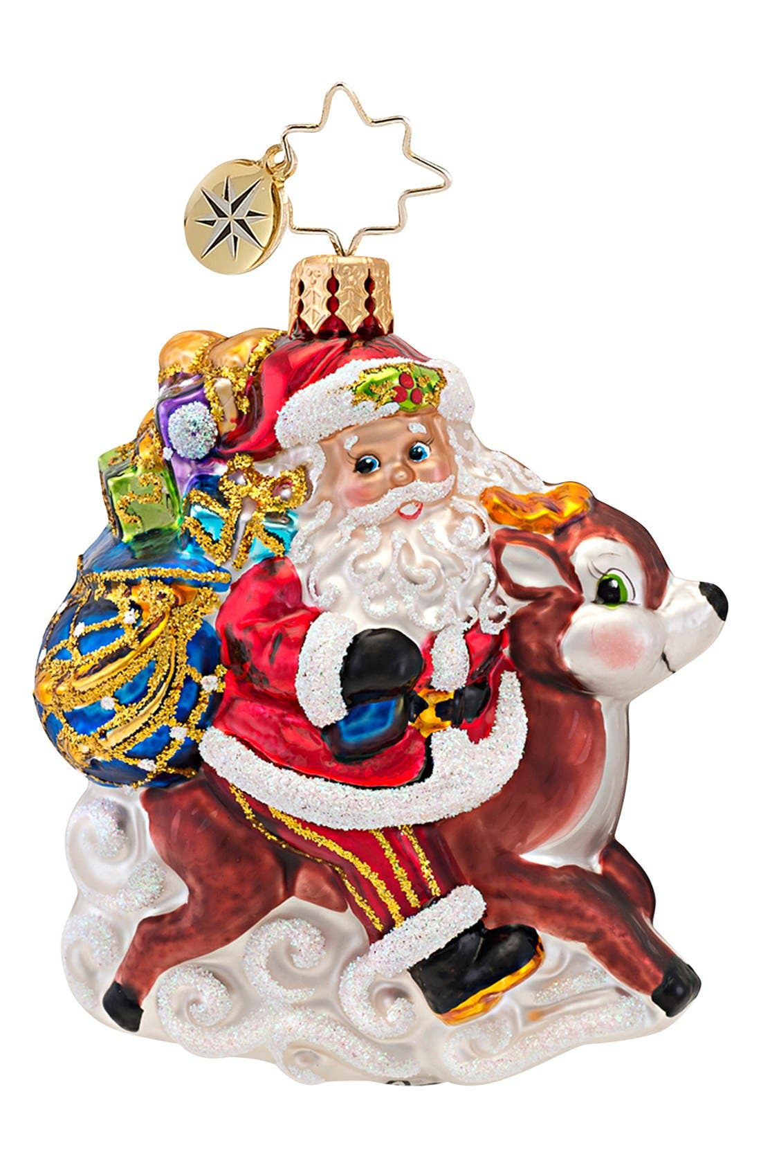 Alternate Image 1 Selected - Christopher Radko 'Ride Along Reindeer' Ornament