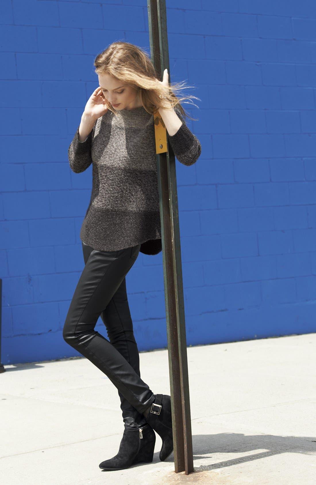 Alternate Image 6  - Eileen Fisher Waxed Denim Skinny Jeans