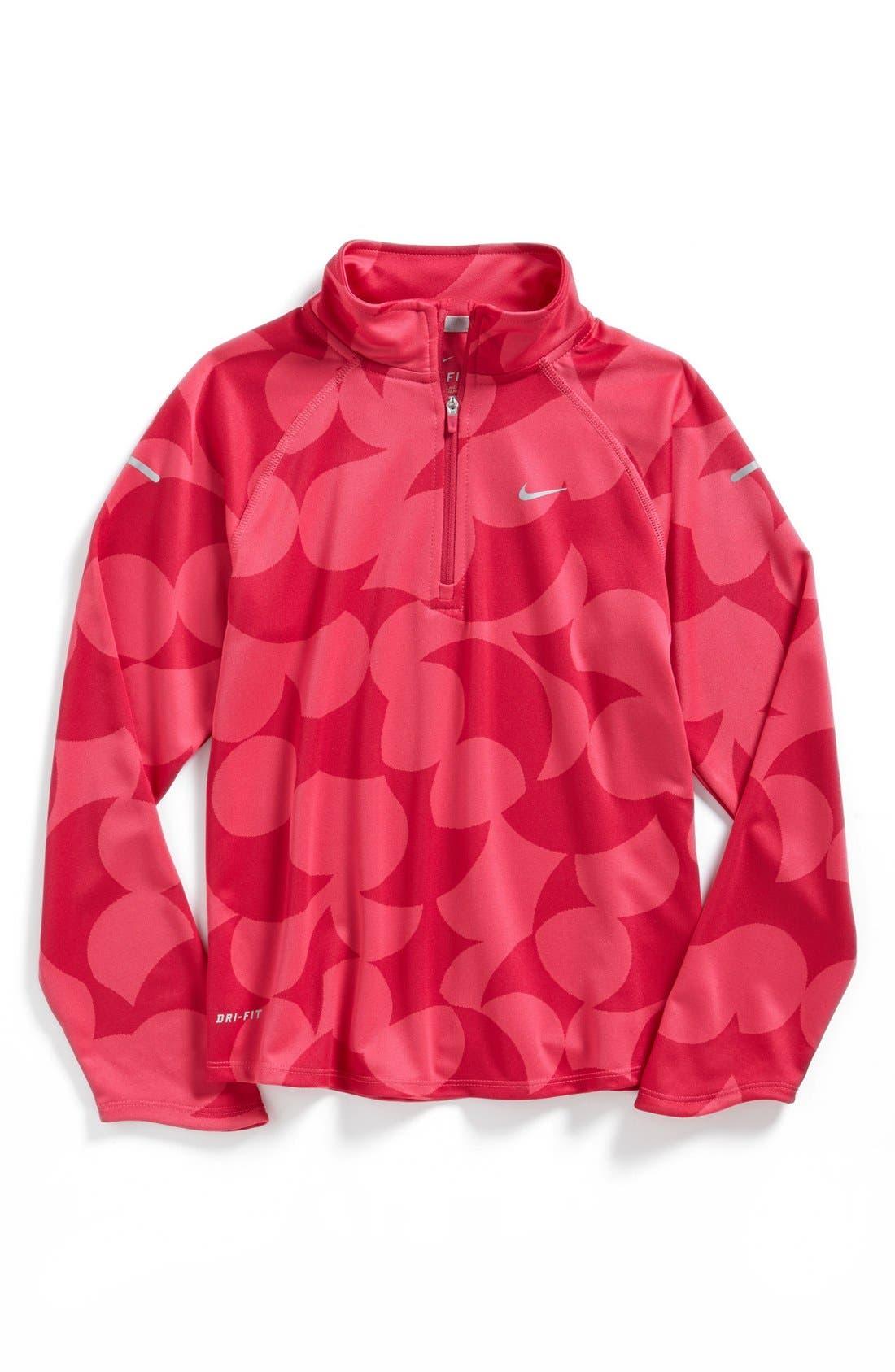 Main Image - Nike 'Element' Dri-FIT Half Zip Running Top (Big Girls)