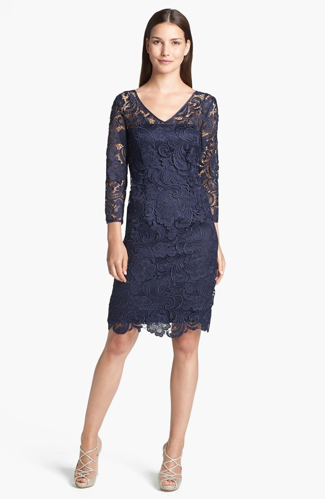 Alternate Image 1 Selected - Adrianna Papell Guipure Lace Sheath Dress