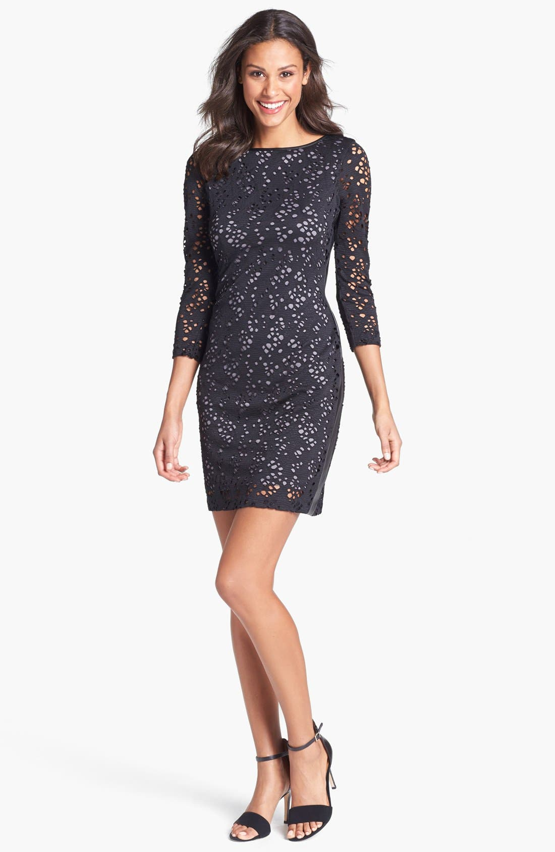 Main Image - Marc New York by Andrew Marc Lace Sheath Dress