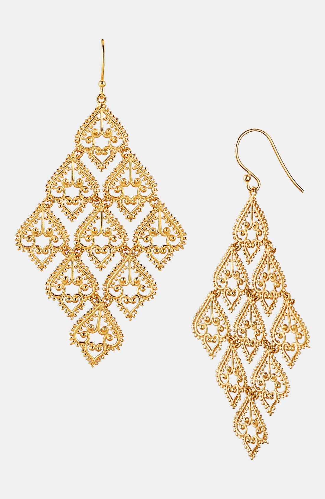 Alternate Image 1 Selected - Argento Vivo Large Chandelier Earrings