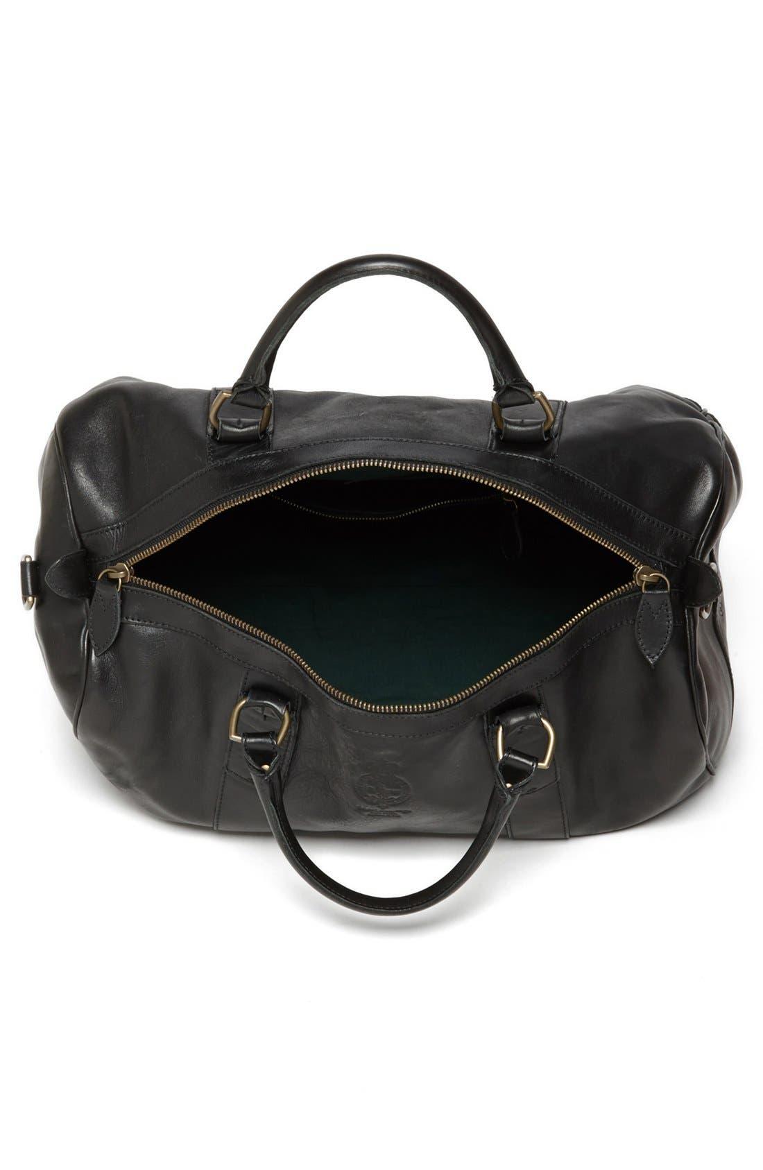 Alternate Image 4  - Polo Ralph Lauren Leather Gym Bag