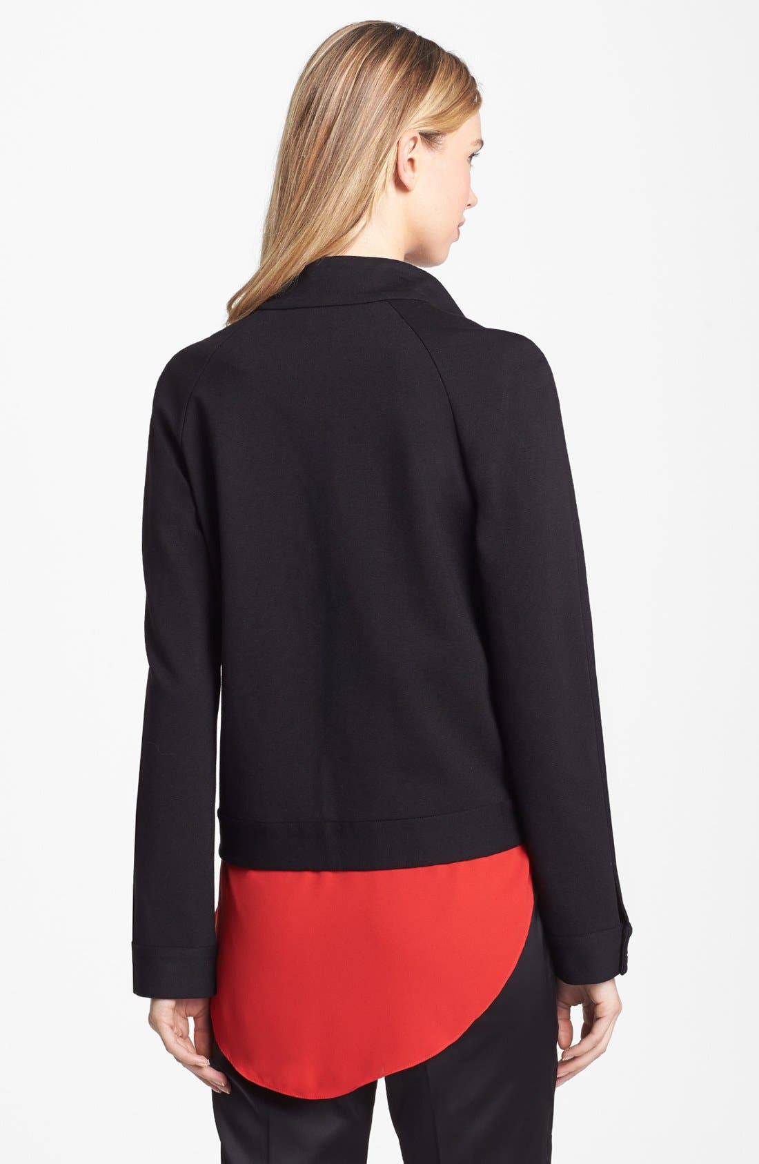 Alternate Image 2  - Vince Camuto Faux Calf Hair & Ponte Knit Jacket